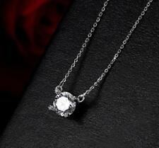 Gorgeous 925 Sterling Silver 1.0 Cts AAA Cubic Zirconia Pendant Necklace
