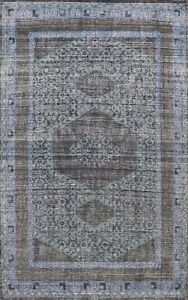Geometric Oushak Oriental Area Rug Vintage Style Hand-knotted Wool Carpet 8'x11'