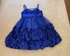 Bonnie Jean Girls Electric Blue Bow Back Dress Age 4 Years