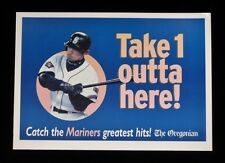 >2000's ICHIRO SUZUKI Seattle Mariners Oregonian Newspaper VENDING BOX SIGN