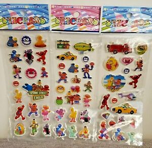 Sesame Street Stickers for Loot Bag Birthday Party sticker 10 sheets