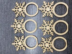 MDF Snowflake Napkin Ring