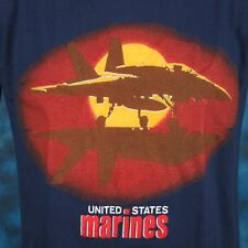 NOS vintage 80s USMC US MARINE CORPS SUNSET T-Shirt SMALL fighter jet thin