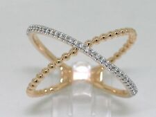 Brillant  X Ring Gelbgold Gold 31 Brillanten total 0,10ct  Wesselton