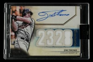 2020 Luminaries Jim Thome Hit Kings #09/10 Indians On Card Autograph SEALED