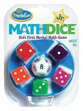 ThinkFun Math Dice Jr. Game Kids Mental Mathematics Counting  Play Toy Learning