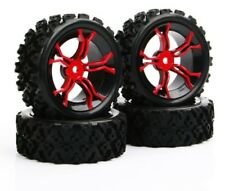 4PCS Wheel Rim & Tires 1:10 Monster Truck RC Car 12mm Hub Hex Rally Racing