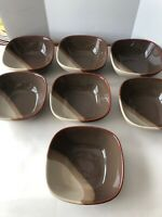 Pfaltzgraff BROWNSTONE Soup Cereal Bowls Lot Of 7 Used
