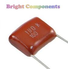 10 X 0,1 uf / 100nf (104) poliéster capacitor con película - 630v (máx.) - 1st Class Post