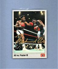 MUHAMMAD ALI AUTOGRAPH CERTIFIED  ALI vs FRAZIER III  1991 ALL WORLD BOXING #148