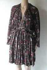 MAGALI PASCAL floral print long sleeve boho dress sz M