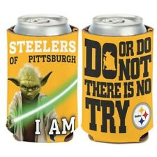 PITTSBURGH STEELERS YODA STAR WARS CAN BOTTLE COOZIE KOOZIE COOLER