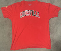 Champion Louisville Cardinals Large Red Short Sleeve Mens