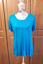 Fantastic Sequin Detailed Top by Cotton Traders in Sea Blue size 12