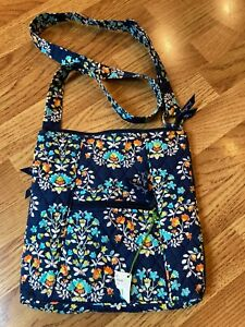 Vera Bradley Navy Crossbody Hipster Shoulder Bag Purse