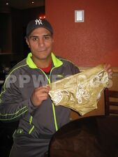 WWE ALBERTO DEL RIO RING WORN GOLD TRUNKS WITH EXACT PICTURE PROOF AND COA RARE