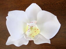 "3"" Cream White Orchid Silk Flower Brooch Pin,Corsage,Scarf,Hat"