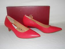 Sofft New Womens Al Tessa Red Leather Heels 9.5 M Shoes