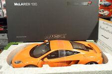 McLaren MP4 12C Orange 1/18 AUTOart SIGNATURE 76006 voiture miniature