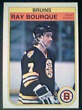 RAY BOURQUE  1982/83 O-PEE-CHEE BOSTON BRUINS 3RD YEAR CARD 7