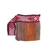 Peruvian handwoven alpaca wool clutch cosmetic bag ethnic boho tribal
