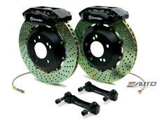 Brembo Front Gt Bbk Brake 4piston Caliper Black 328x28 Drill Disc Rx8 Rx 8 04 11
