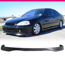 Fits 99-00 Honda Civic Type R TR EK Front Bumper Lip Spoiler Bodykit PP