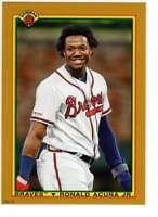 Ronald Acuna Jr. 2020 Bowman 1990 Bowman 5x7 Gold #90B-RAJ /10 Braves