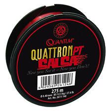 (0,03EUR/m) Quantum Monofile Angelschnur - Quattron PT Salsa Red 275m 0,25