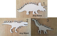 6 mm Thick MDF Wooden Name Letters Dinosaur, Widths 15 cm to Large 60 cm