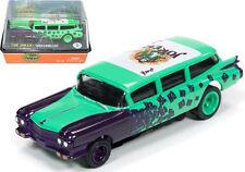 Auto World 4Gear R15 1959 Cadillac  Ambulance The Joker Slot Car 1:64 / HO Scale
