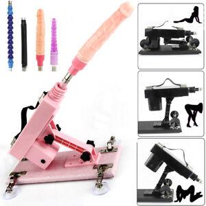 Sex Machine Dildo Automatic Gun Sex Toy Vibrator Rapid Speed Attachments UK Plug