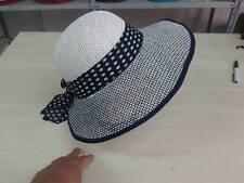 cappello blu elegante cerimonia taglia unica paglia hat cocktail donna mare 34d9fdddfe75