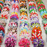 Lot Grosgrain Ribbon Knot Hair Bows With Clip For Girls Boutique Bowknot Hairpin