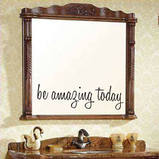 Inspiring Motivated Be Amazing Today Mirror Sticker for Bathroom Bedroom Decor