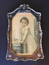 French Artist William Adolphe Bouguereau Yvonne 1896 Print Framed Home Decor