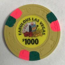 Fabulous Las Vegas $1000 Gaming Chip Casino Royal Flush Slots
