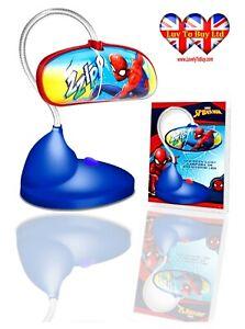 Spiderman LED Standing Table/Desk Lamp,Flexible,22LED Light Official Licenced