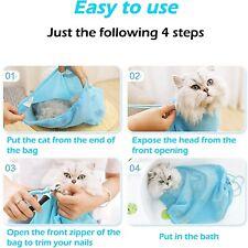 New listing Cat Grooming Bag Mesh Cat Grooming Bathing Bag Cat Washing Bath Bag Restraint