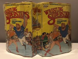 1986 Titan Toy WWF LJN Superstars Jumbo Collectors Case HULK HOGAN ANDRE GIANT