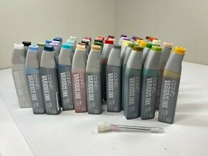 New Copic Sketch Marker Various Ink Refills Lot of 48 Bottles 25cc + 1 Booster