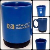 💙 Hewlett Packard Vintage/Rare Blue/Gold Tone Cermaic Coffee Mug