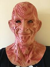 Adult Scary Burnt Man Nightmare Mask Halloween Horror Freddy Fancy Dress Costume