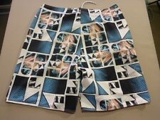 116 MENS EX-COND O'NEILL WHITE / BLACK / BLUE / SALMON BOARDSHORTS 36 $80 RRP.