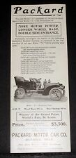 """1904 OLD MAGAZINE PRINT AD, PACKARD MODEL """"N"""" TOURING CARS, MORE MOTOR POWER!"""
