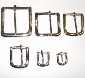 """WEST END BELT BUCKLE STRAP NICKEL VARIOUS SIZES 2"""" - 1.5"""" - 1.25"""" - 1"""" INCH"""