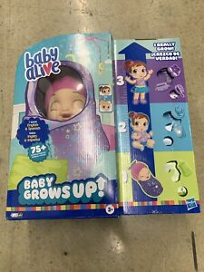 BABY ALIVE Baby Grows Up Shining Skylar or Star Dreamer Growing Baby Doll Dreamy