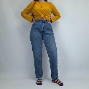 Vintage High Waisted Mom Jeans 30W 29L Blue