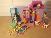 Polly Pocket Pet Salon Groomer Store House Playset Dogs Cats Doll Accessory 1-6
