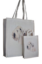 More details for wheaten terrier dog adult & child dog treats packed lunch etccotton shopping bag